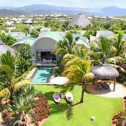 Sofitel so mauritius   aerial view   beach villa