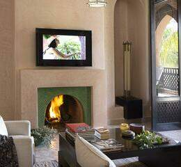 Palais aziza   junior suite fireplace 1